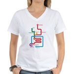 Gastrointestinal Subway Map Women's V-Neck T-Shirt