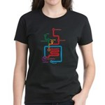 Gastrointestinal Subway Map Women's Dark T-Shirt