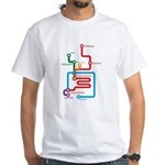 Gastrointestinal Subway Map White T-Shirt
