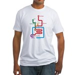 Gastrointestinal Subway Map Fitted T-Shirt