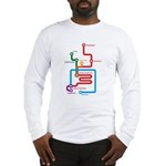 Gastrointestinal Subway Map Long Sleeve T-Shirt