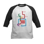 Gastrointestinal Subway Map Kids Baseball Jersey