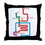 Gastrointestinal Subway Map Throw Pillow