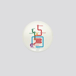 Gastrointestinal Subway Map Mini Button