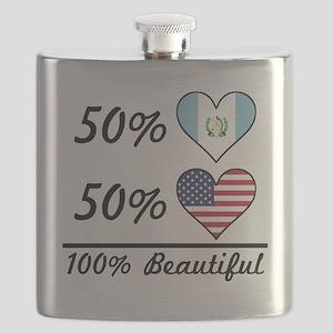 50% Guatemalan 50% American 100% Beautiful Flask