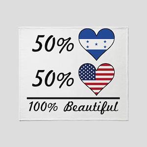 50% Honduran 50% American 100% Beautiful Throw Bla