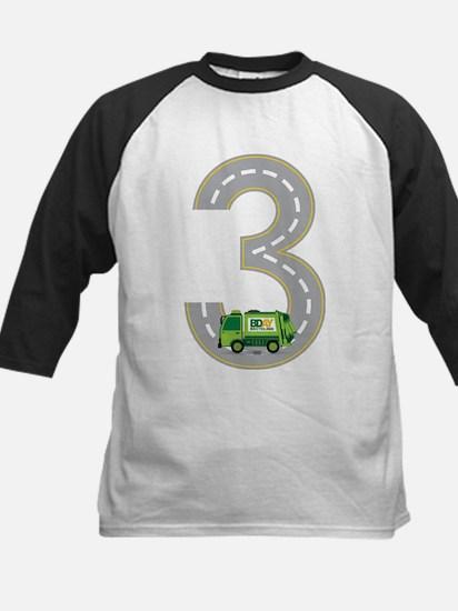 3rd Birthday Garbage Truck Baseball Jersey