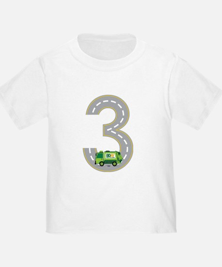 3rd Birthday Garbage Truck T-Shirt