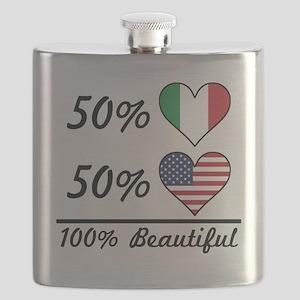 50% Italian 50% American 100% Beautiful Flask