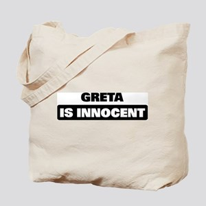 GRETA is innocent Tote Bag