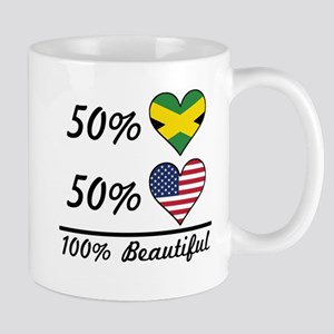 50% Jamaican 50% American 100% Beautiful Mugs
