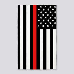 U.S. Flag: Thin Red Line Area Rug