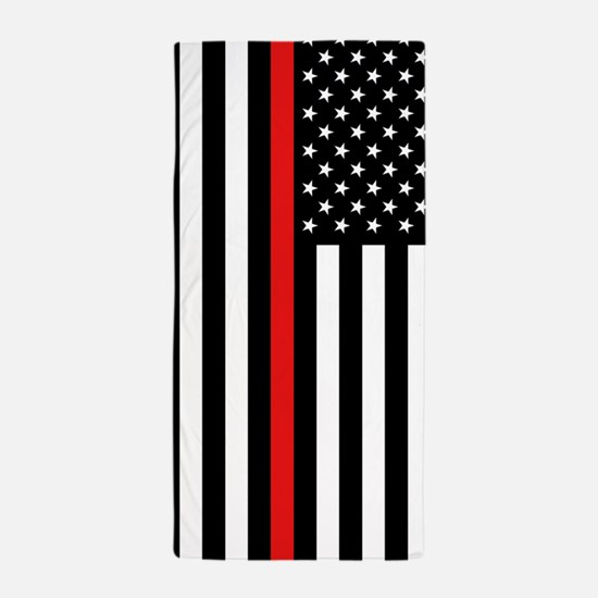 U.S. Flag: Thin Red Line Beach Towel