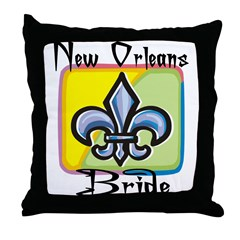 New Orleans Bride Throw Pillow