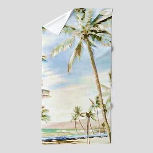 Vintage Hawaiian Beach Beach Towel