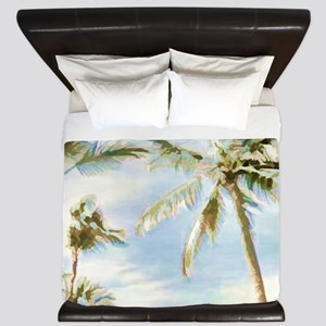 Vintage Hawaiian Beach King Duvet