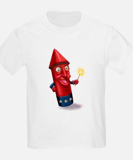 Mr. Sparkle Firecracker Kids T-Shirt