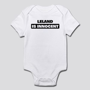 LELAND is innocent Infant Bodysuit