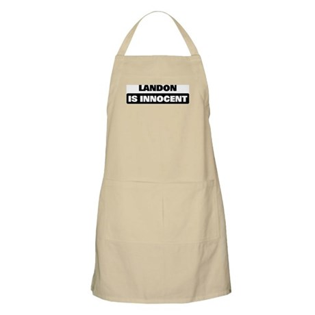LANDON is innocent BBQ Apron