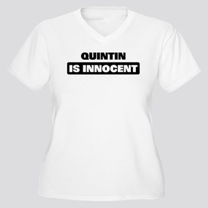 QUINTIN is innocent Women's Plus Size V-Neck T-Shi