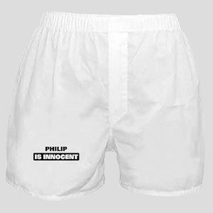 PHILIP is innocent Boxer Shorts
