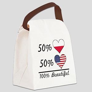 50% Polish 50% American 100% Beautiful Canvas Lunc