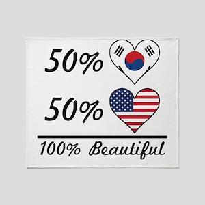 50% Korean 50% American 100% Beautiful Throw Blank