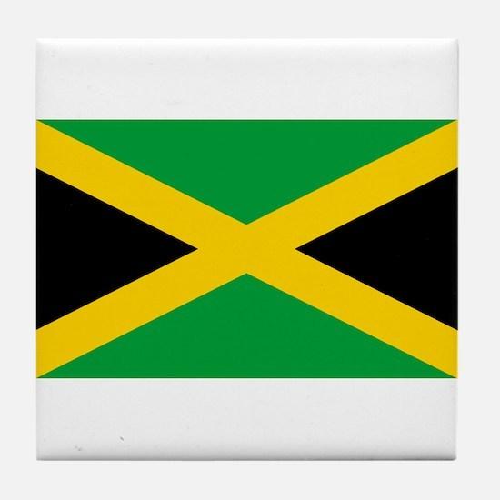 Flag of Jamaica - Jamaican Flag Tile Coaster