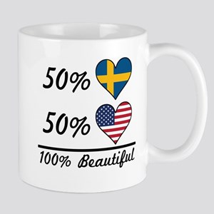 50% Swedish 50% American 100% Beautiful Mugs