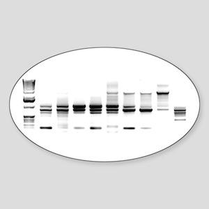 DNA Gel B/W Oval Sticker