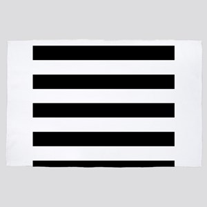 Black & White Stripes 4' x 6' Rug
