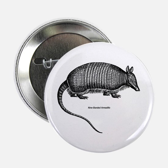 """Nine-Banded Armadillo 2.25"""" Button (10 pack)"""
