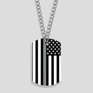 U.S. Flag: Thin Grey Line Dog Tags