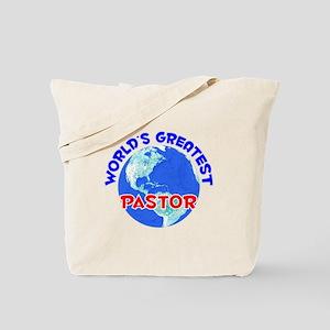 World's Greatest Pastor (E) Tote Bag