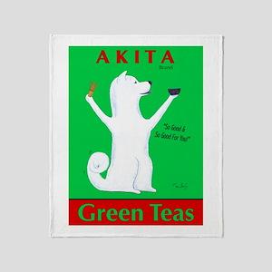 Akita Green Teas Throw Blanket