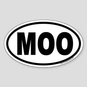 MOO Euro Style Oval Sticker for Cow Lovers!
