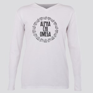 Alpha Chi Omega Arrows Plus Size Long Sleeve Tee