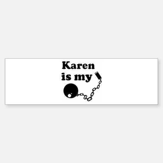 Karen (ball and chain) Bumper Car Car Sticker