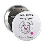 sum bunny luv's you Button