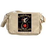 Greyhound Cognac Messenger Bag