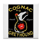 Greyhound Cognac Tile Coaster