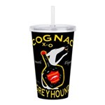 Greyhound Cognac Acrylic Double-wall Tumbler