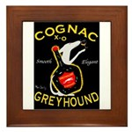 Greyhound Cognac Framed Tile