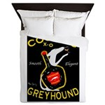 Greyhound Cognac Queen Duvet