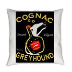Greyhound Cognac Everyday Pillow