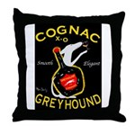 Greyhound Cognac Throw Pillow