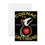 Greyhound Cognac Greeting Card