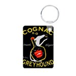 Greyhound Cognac Aluminum Photo Keychain