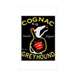 Greyhound Cognac Sticker (Rectangle 50 pk)