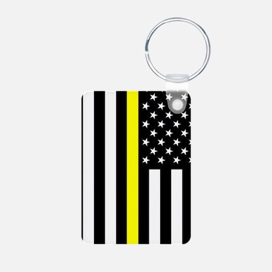 U.S. Flag: Thin Yellow Lin Keychains